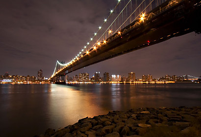 Fototapeta Manhattan bridge night 24702