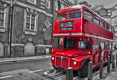 Fototapeta Red Bus London 24711