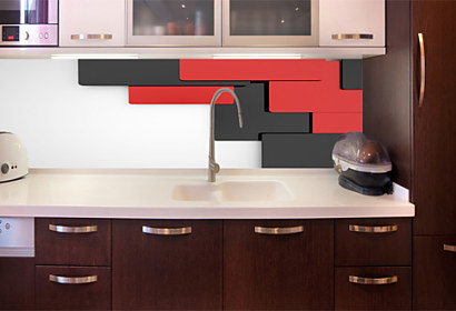 3D decor Black Red White - Fototapeta 24890