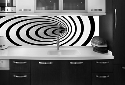 Black and white illusion - Fototapeta 24093