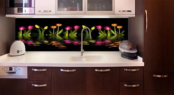 d90bcc026fd6b Fototapeta zástena - Farebné tulipány black 3147 | Kreatívne ...