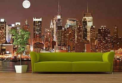 fototapeta - manhattan skyline at night