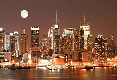 Samolepiaca fototapeta - Manhattan night