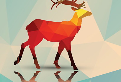 Fototapeta Geometric deer ft-62786205